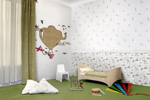 Novedades papeles pintados infantiles de tres tintas - Papel habitacion infantil ...