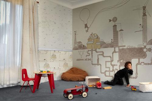 Novedades papeles pintados infantiles de tres tintas - Papel para habitaciones juveniles ...