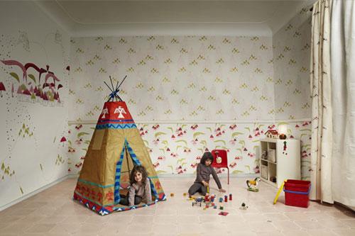 Novedades papeles pintados infantiles de tres tintas for Precio papel pared decorativo