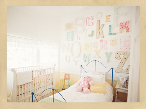 pared infantil letras
