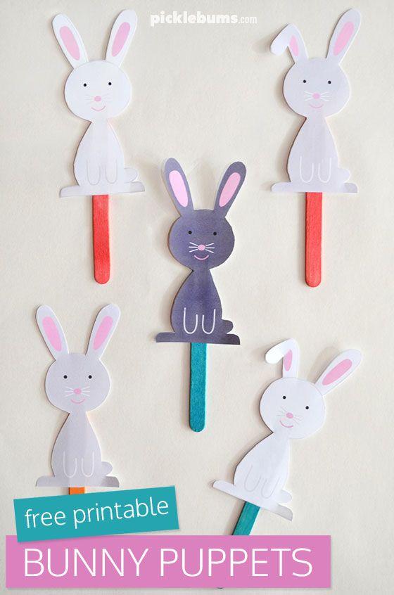 Imprimible conejo de pascua