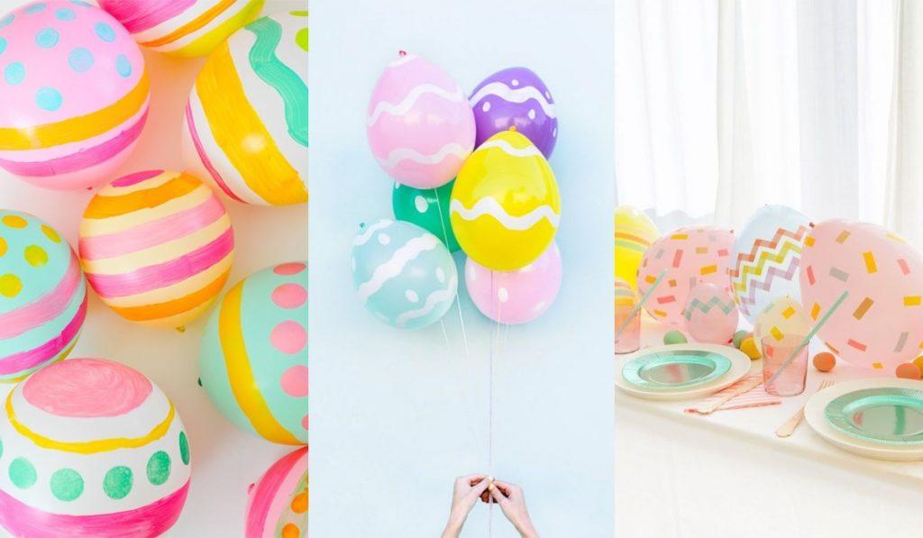 Huevos de Pascua con globos