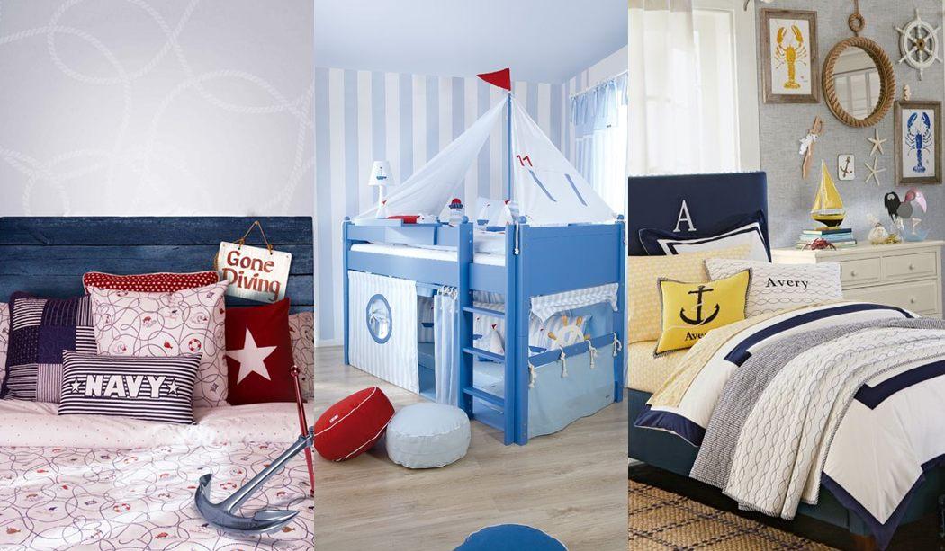 C mo conseguir un dormitorio de estilo marinero para ni os for Decoracion habitacion bebe marinero