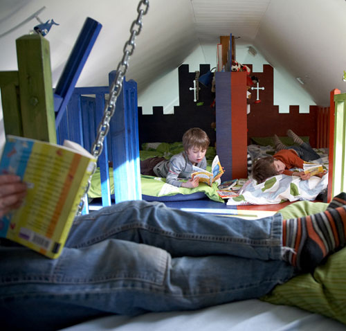 Habitaci n infantil en la buhardilla - Habitaciones en buhardillas ...
