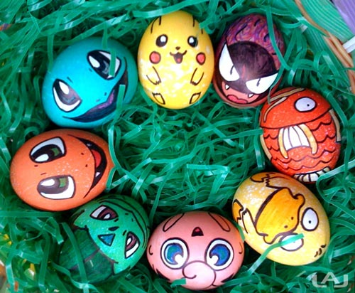 Pintar huevos de Pascua de Pokémon