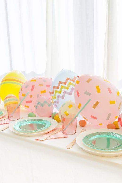 Manualidades Pascua globos