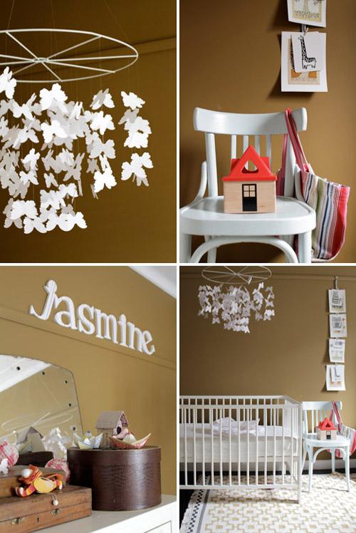 Pintar la habitaci n del beb en tonos marrones - Pintar habitacion bebe nina ...