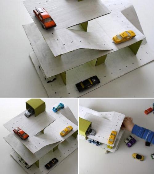 Como hacer un parking de cart n for Ideas para decorar mi cuarto con cosas recicladas