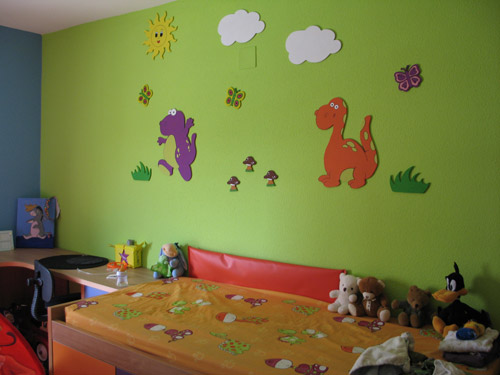 Decoracion dinosaurios - Decoracion pared ninos ...