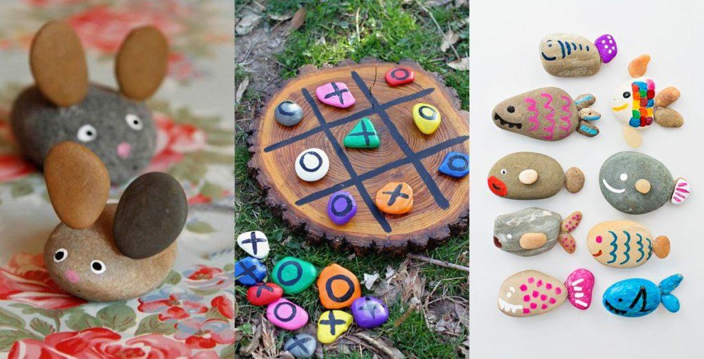 Manualidades con piedras, 25 ideas para hacer con niños