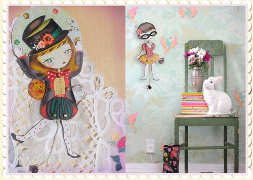 Muñecas articuladas para decorar jugando