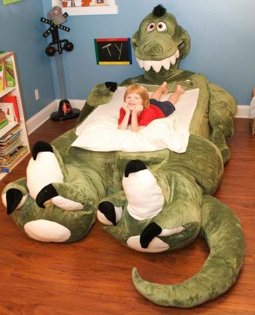 Cama infantil dinosaurio