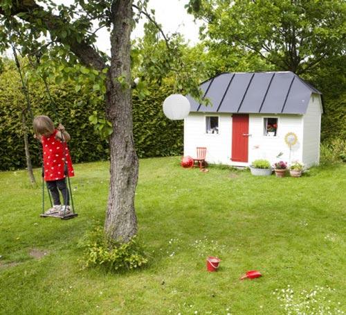 Decoración casita de jardín