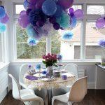 Decorar con pompones y globos