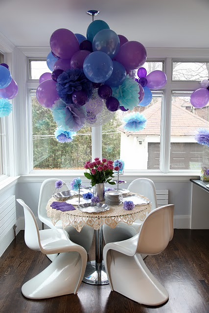 Decorar con pompones y globos for Decoracion rustica barata