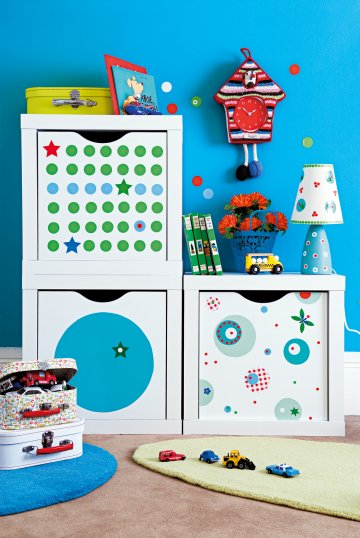 Diy decorar muebles infantiles for Pegatinas para muebles