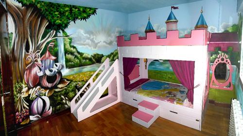 dormitorio infantil de princesas