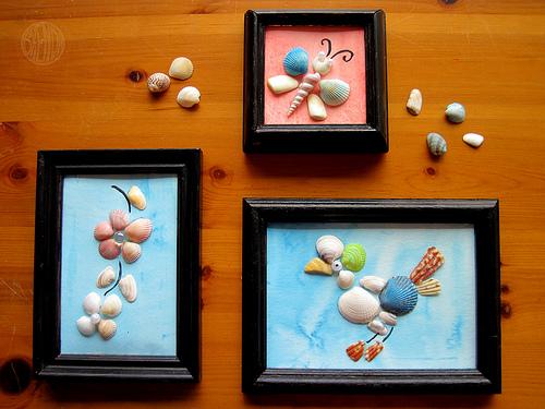 Manualidades infantiles con caracolas y conchas - Que manualidades puedo hacer ...