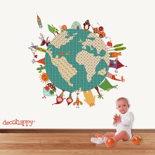 Decoraci n infantil decohappy - Bola del mundo decoracion ...