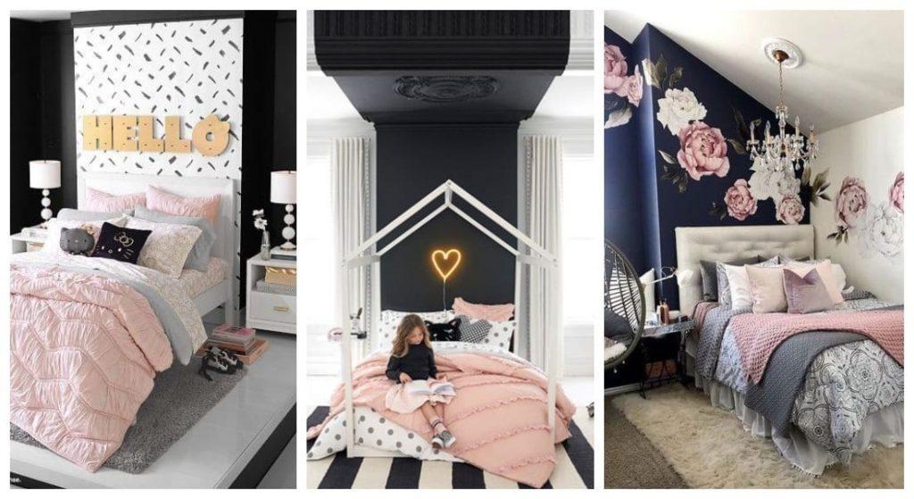 Dormitorios rosa negro