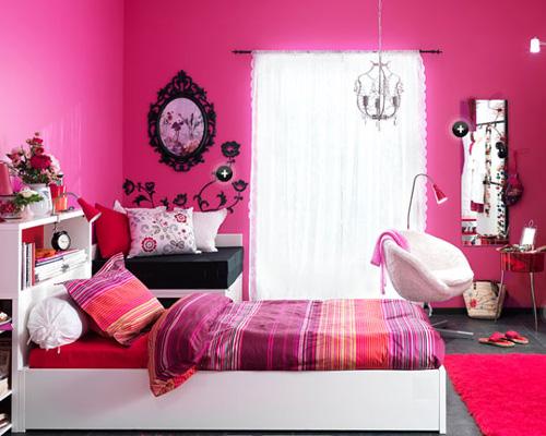 Selección de habitaciones juveniles decoradas en rosa y negro