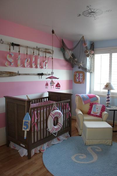 Habitación marinera para niña