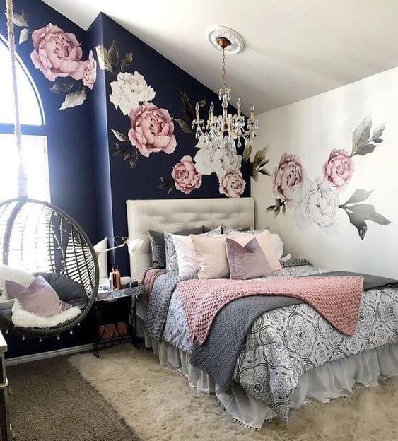Habitaciones en rosa y negro