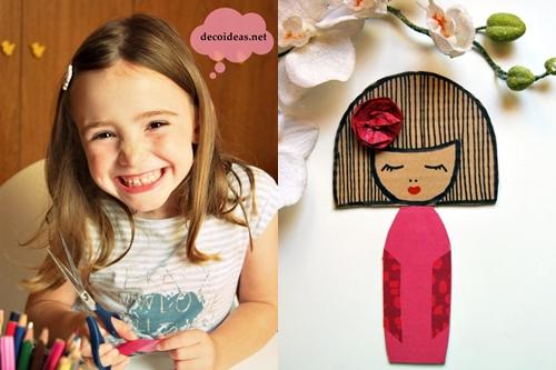 Manualidades: muñequita Kokeshi de cartón > Decoracion Infantil y ...