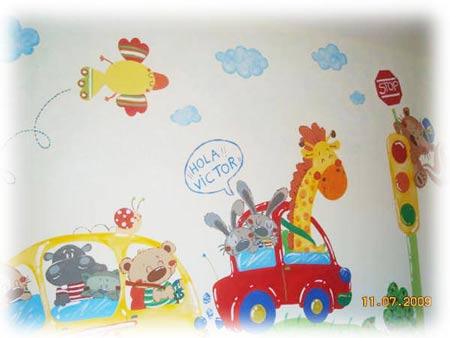 dise o ilustraci n y murales infantiles decoideas net On murales para dormitorios de ninos