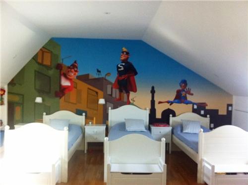 Decoracion superheroes for Dormitorio super heroes