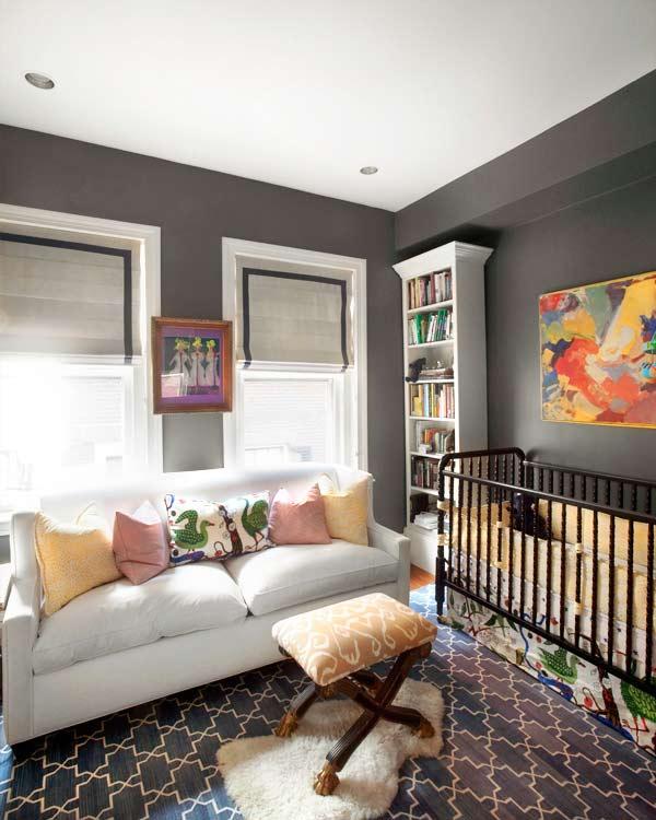 Dormitorios de bebé en gris