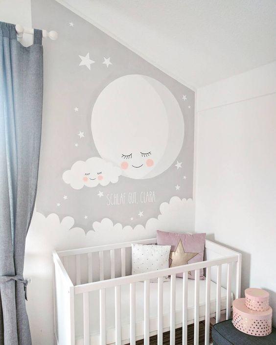 Dormitorios en gris para beb s for Disenos de cuartos para ninas sencillos