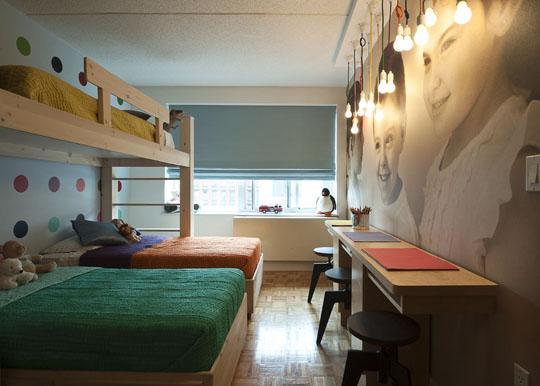 Habitación infantil para tres