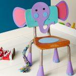 Sillas infantiles decoradas: elefante