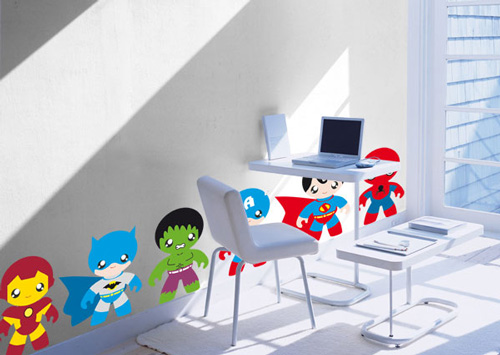 Decoracion superheroes for Stickers pared ninos