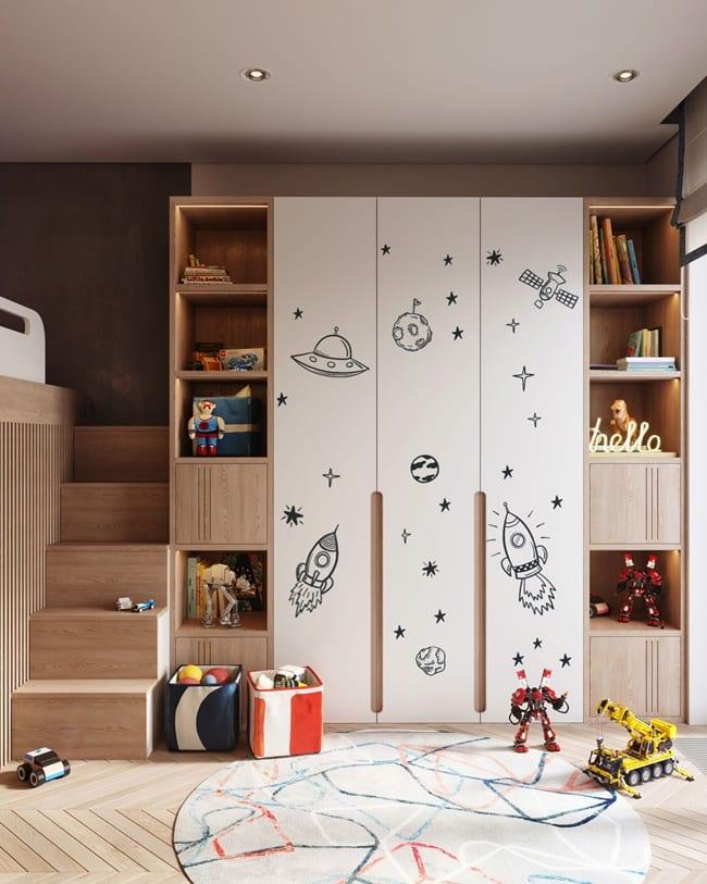 Decorar armarios infantiles
