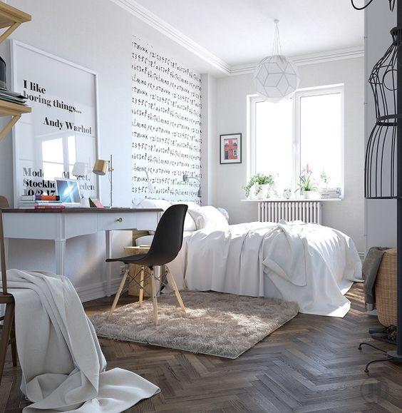 Habitaciones juveniles de estilo escandinavo