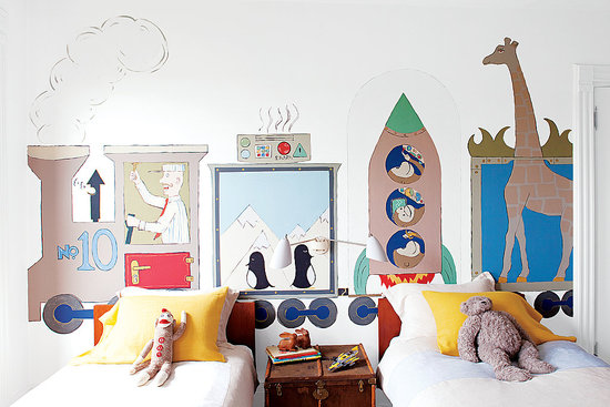 Ideas decoraci n paredes infantiles - Decoracion de murales infantiles ...