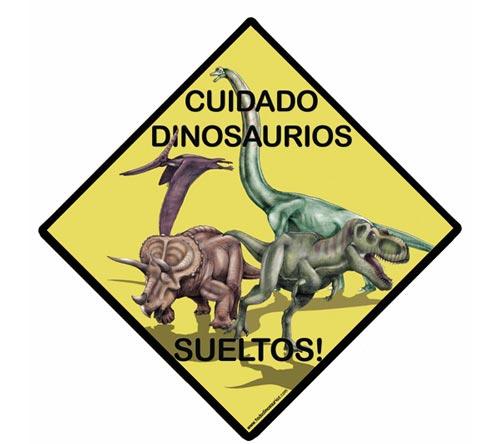Placas de puerta de dinosaurios