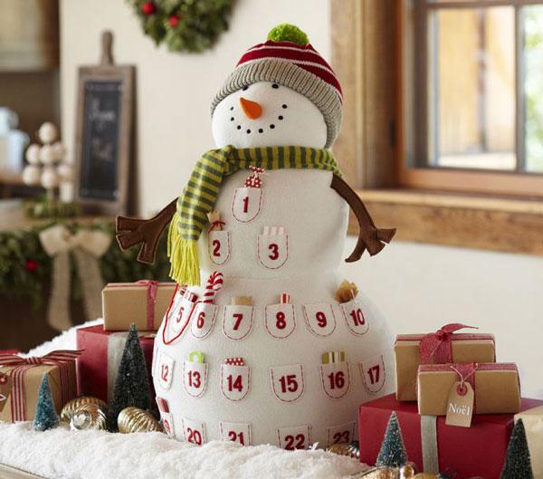 calendario de adviento muñeco de nieve