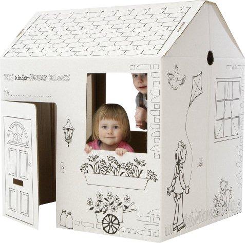 Casa popup casa de cart n decoideas net - Casas para ninos de carton ...