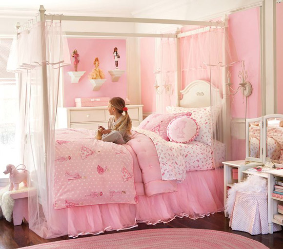 Idea para decorar una habitación de Barbie