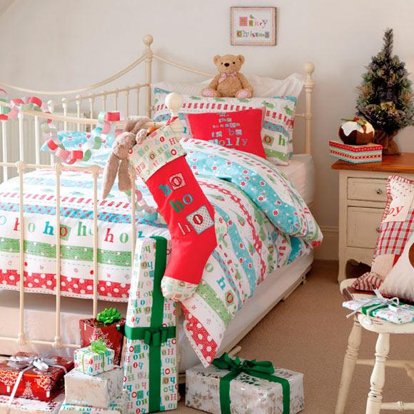 Funda nórdica infantil navideña