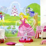 Murales para una habitación de princesas