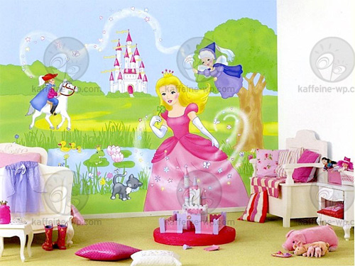 Decoracion princesas murales infantiles de papel