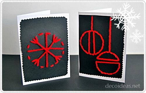 Postales de navidad f ciles de hacer - Tarjetas de navidad faciles ...