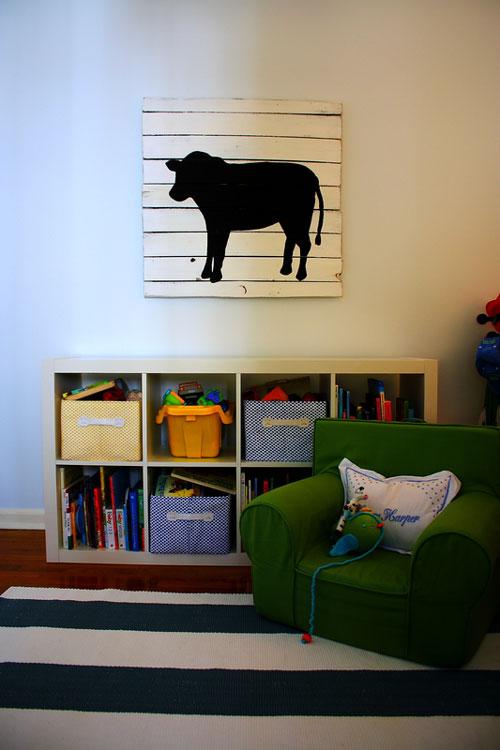 Reciclar también en la habitación infantil