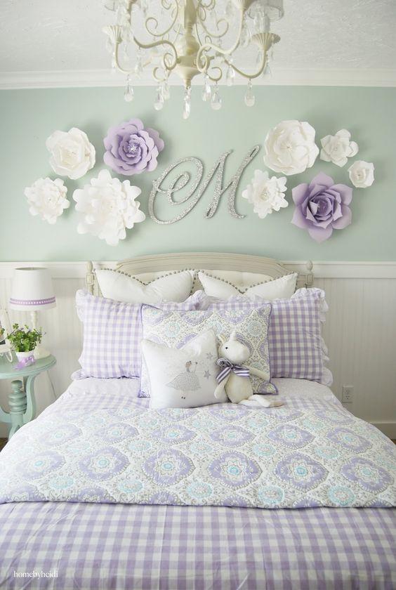 Habitación para niña decorada con su nombre