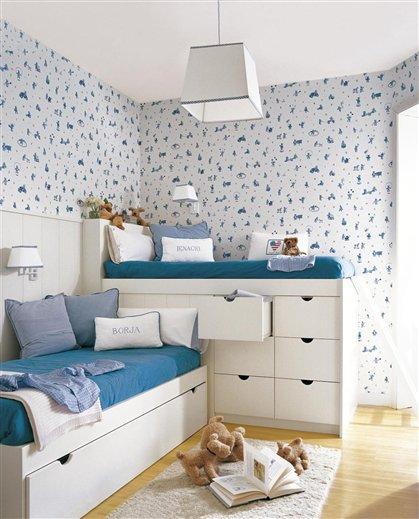 Ejemplos de habitaciones infantiles compartidas - Amueblar casa por 1000 euros ...