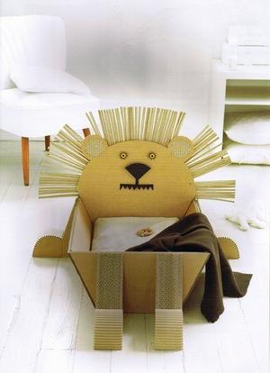 Muebles y objetos de cartón corrugado